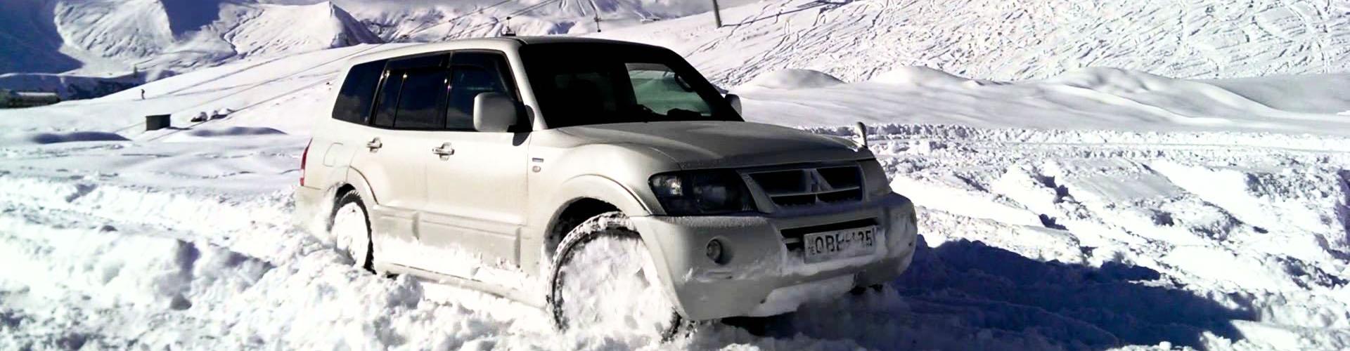 Sneeuwkettingen voor de Mitsubishi Pajero