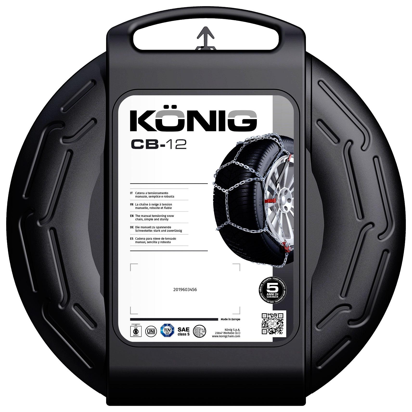 K/ÖNIG CB-12 100 Cha/înes /à Neige Set de 2